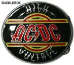 AC/DC (high voltage) Belt Buckle + display stand. Code AV6